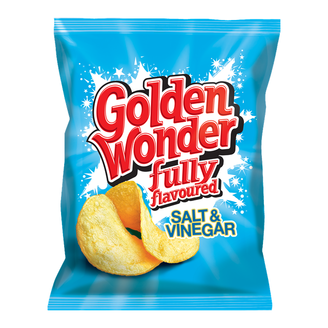 GOLDEN WONDER SALT & VINEGAR 32.5g (32 PACK)