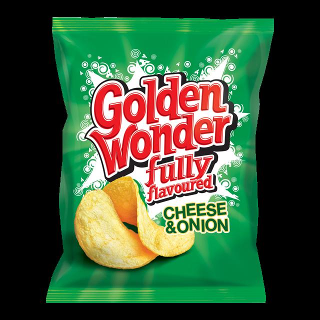 GOLDEN WONDER CHEESE & ONION 32.5g (32 PACK)