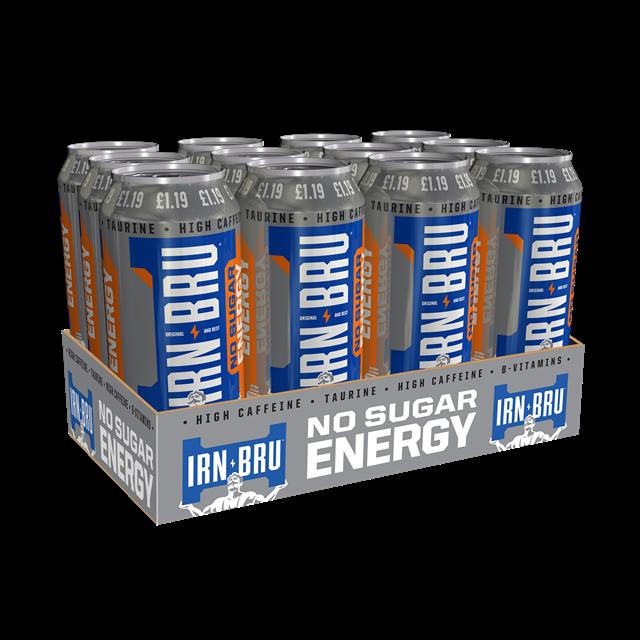 IRN BRU ENERGY DRINK NO SUGAR 500ml £1.19 (12 PACK)