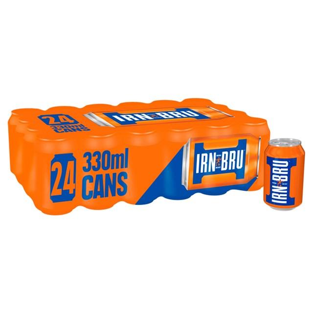 BARRS IRN BRU 330ml MULTIPACK CANS (24 Pack)