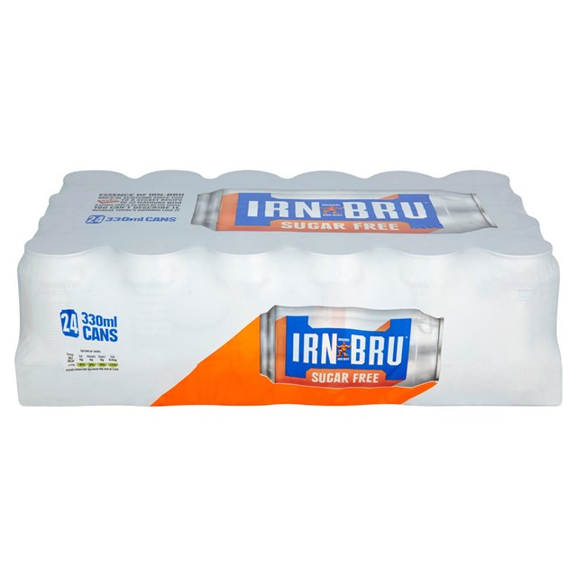 BARRS SUGAR FREE IRN BRU 330ml MULTIPACK (24 PACK)