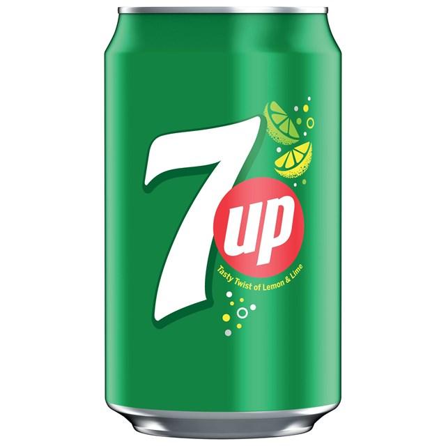 7UP SPARKLING LEMON & LIME FLAVOURED DRINK CANS 330ml (24 PACK)