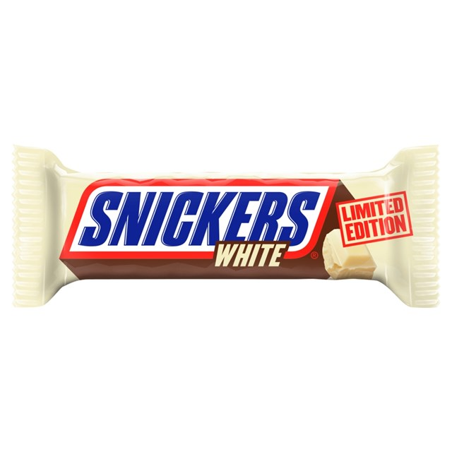 SNICKERS WHITE LIMITED EDITION CHOCOLATE BAR 49g (32 PACK)