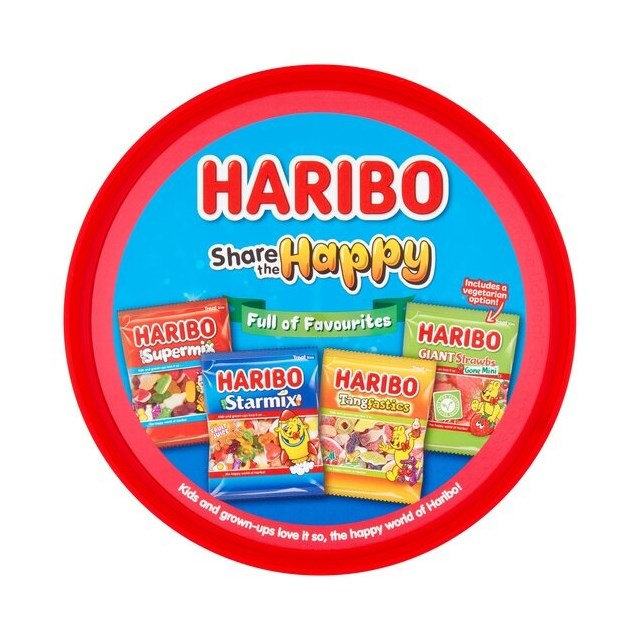 HARIBO TUBS SHARE THE FUN 600g TUB