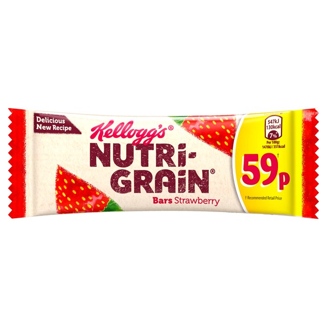 KELOGGS CEREAL BARSL 49P NUTRIGRAIN STRAWBERRY