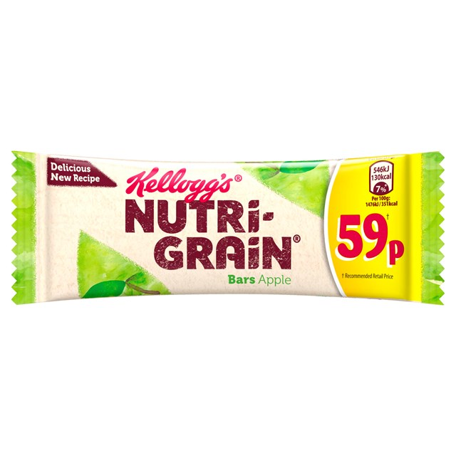 KELLOGGS CEREAL BARS 59P NUTRIGRAIN APPLE (25 PACK)