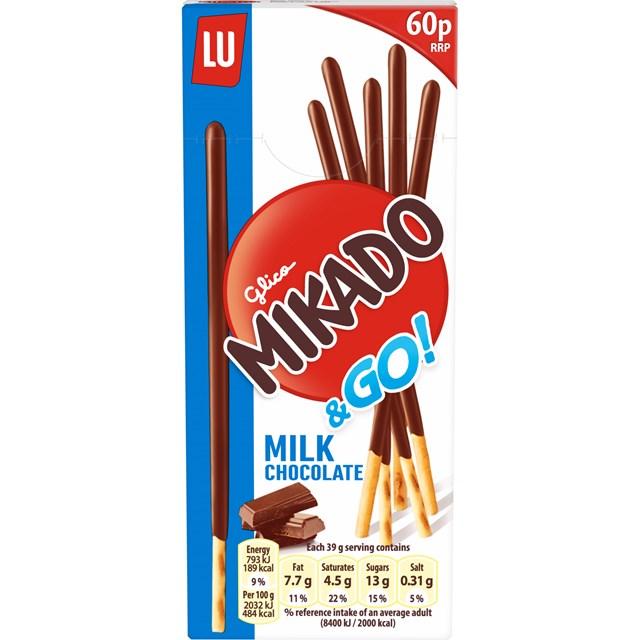 MIKADO MILK CHOCOLATE 39G 60P (24 PACK)