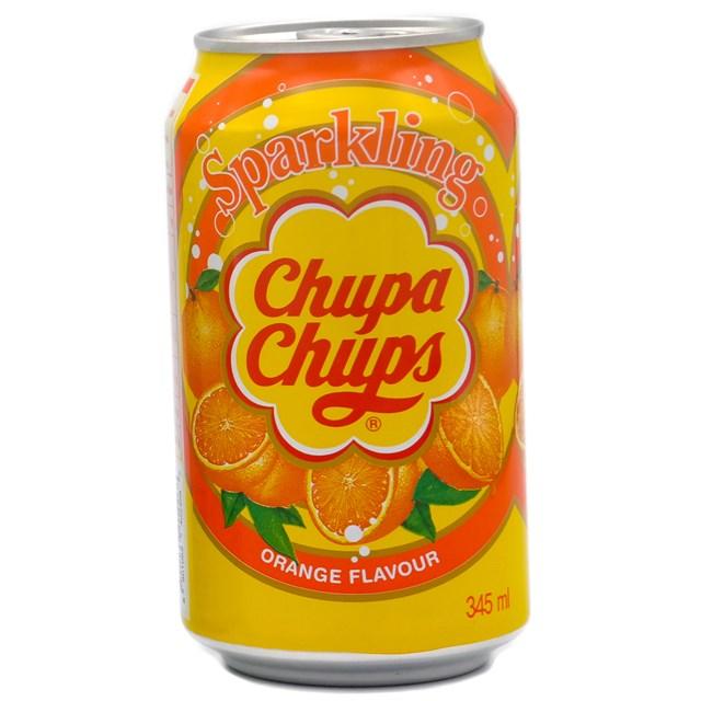 CHUPA CHUPS CANS ORANGE FULL SUGAR 345ml (24 pack)
