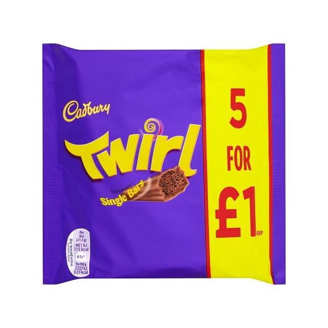 CADBURYS TWIRL £1 (20 x 5 PACK)