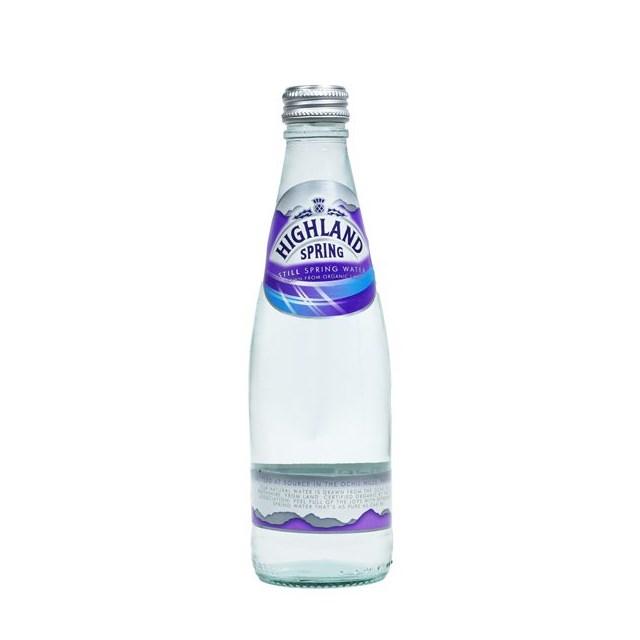 HIGHLAND SPRING STILL WATER GLASS BOTTLE 330ml (24 PACK)