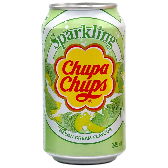 CHUPA CHUPS CANS MELON CREAM FULL SUGAR 345ml (24 PACK)