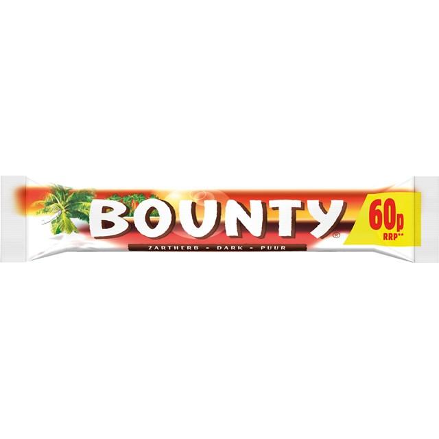 BOUNTY DARK CHOCOLATE 60P