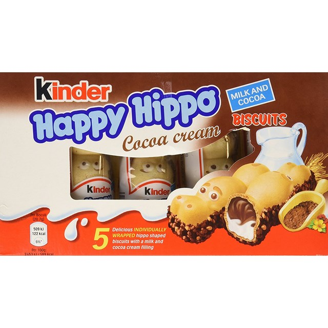 KINDER HAPPY HIPPO COCOA 5PACK