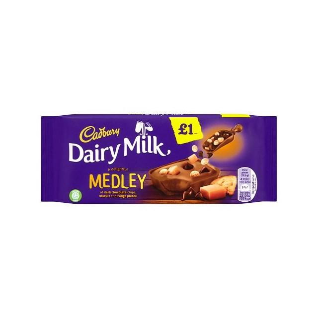 DAIRY MILK £1 MEDLEY FUDGE