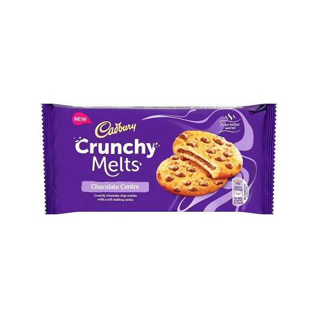 CADBURY CRUNCHY MELTS CHOCOLATE 156g (12 PACK)