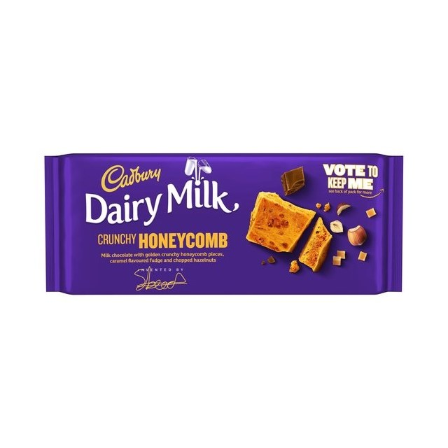 CADBURYS DAIRY MILK HONEYCOMB & NUTS 105g £1 (19 PACK)