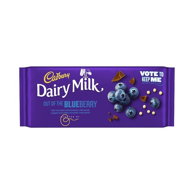 CADBURYS DAIRY MILK INVENTORS OUT OF THE BLUEBERRY 105g (19 PACK)