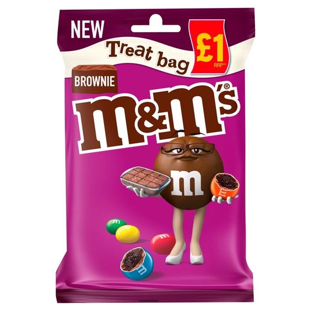 M&M'S BROWNIE TREAT BAG 70g £1 (16 PACK)