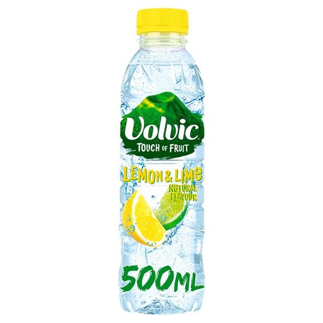 VOLVIC TOUCH OF FRUIT LEMON & LIME 500ml (12 PACK)