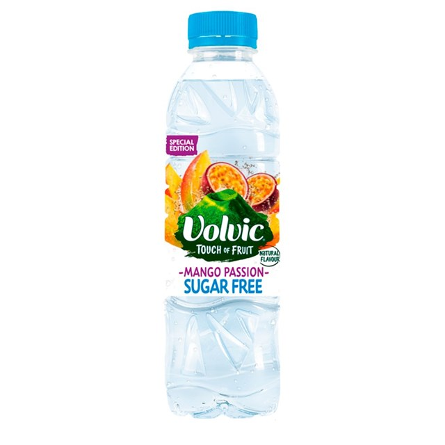 VOLVIC TOUCH OF FRUIT MANGO & PASSION 500ml (12 PACK)