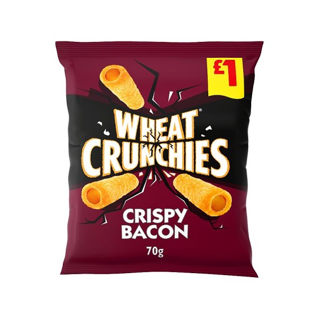 WHEAT CRUNCHIES CRISPY BACON 70g £1 (14 pack)
