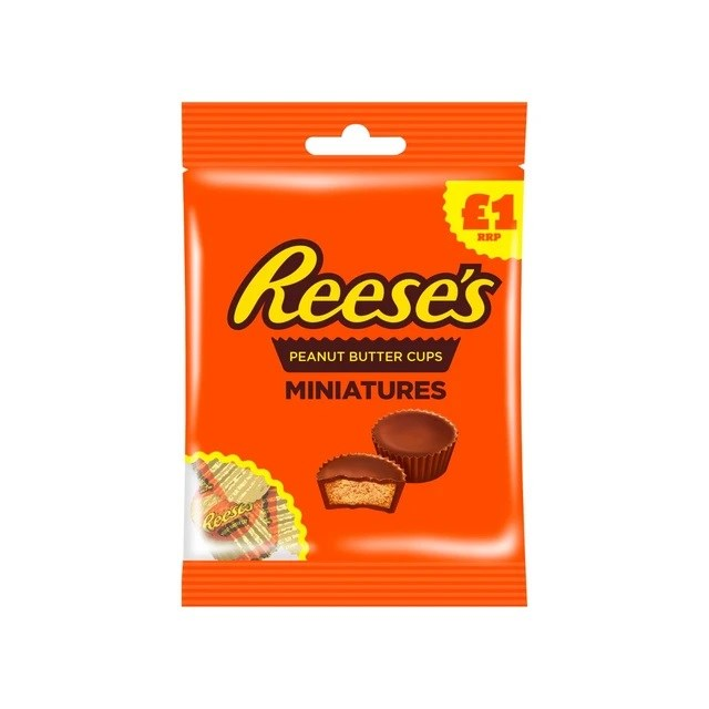 REESE'S PEANUT BUTTER MINIATURE CUPS 72G £1 (15 PACK)