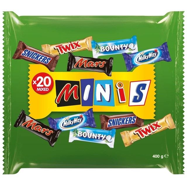 MARS ASSORT. MIXED MINIS 400g (PACK12)