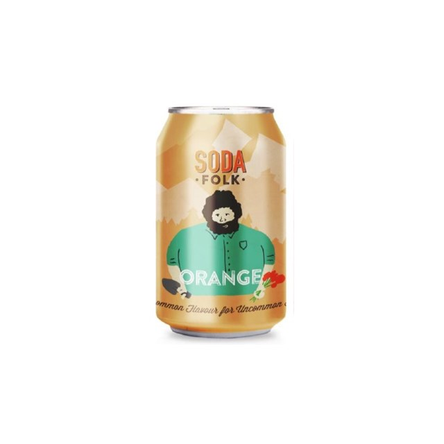 SODA FOLK ORANGE CANS