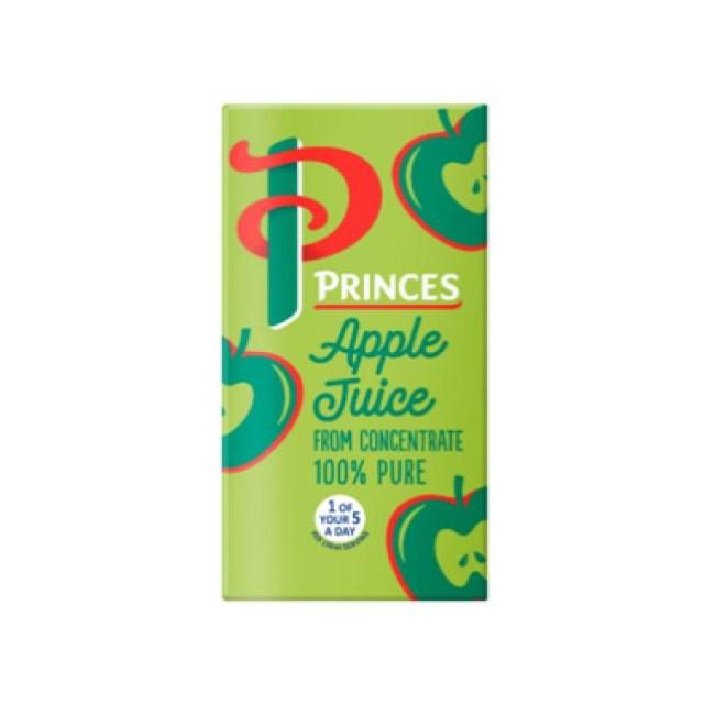 PRINCES APPLE JUICE SMALL CARTONS 200ml (24 PACK)