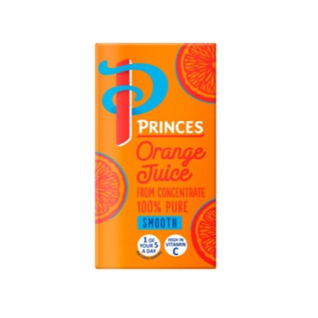 PRINCES ORANGE JUICE SMALL CARTONS 200ml (24 PACK)