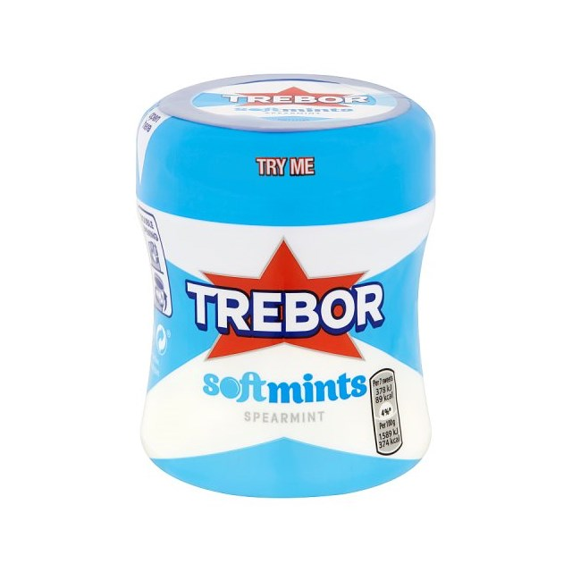 TREBOR POTS SOFTMINTS SPEARMINT