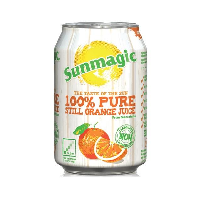 SUNMAGIC CAN ORANGE JUICE AUGUST DATED