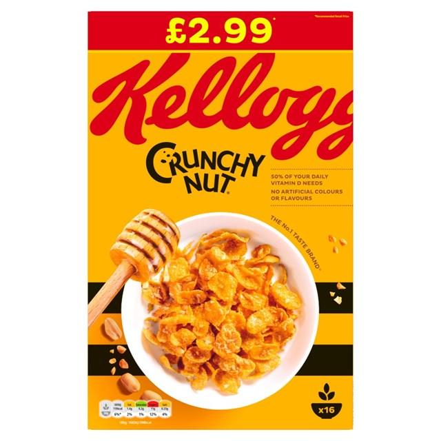 KELLOGGS £2.99 CRUNCHY NUT CORNFLAKES
