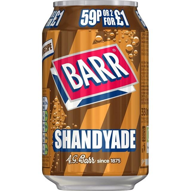 BARRS 49P SHANDY 330ml (24 PACK)