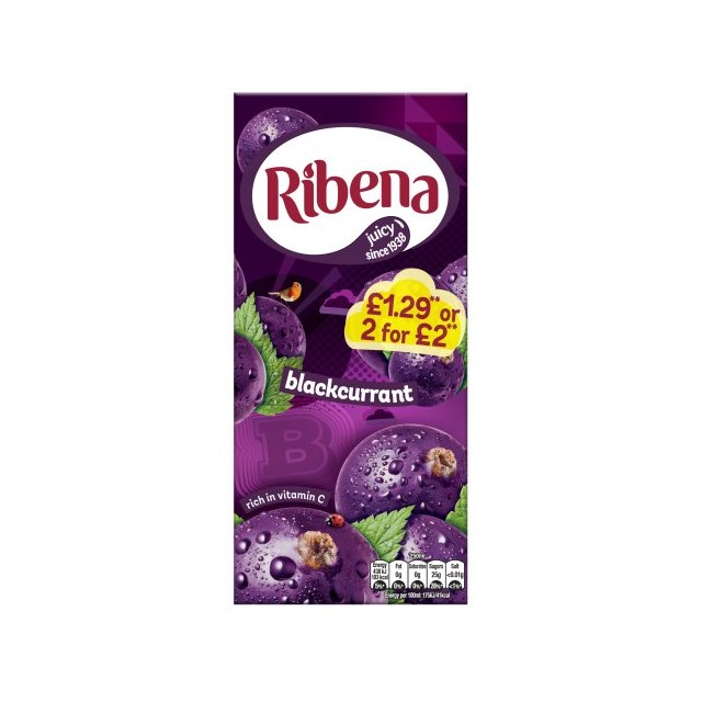 RIBENA BLACKCURRANT £1.29