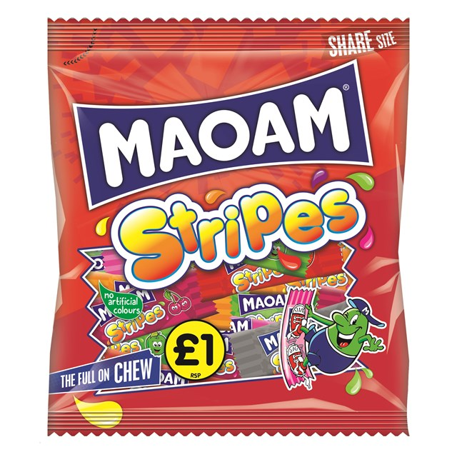 HARIBO £1 MAOAM STRIPES 140g (12 PACK)