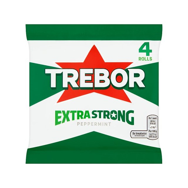 TREBOR EXTRA STRONG MINTS PEPPERMINT (12 x 4 PACK)
