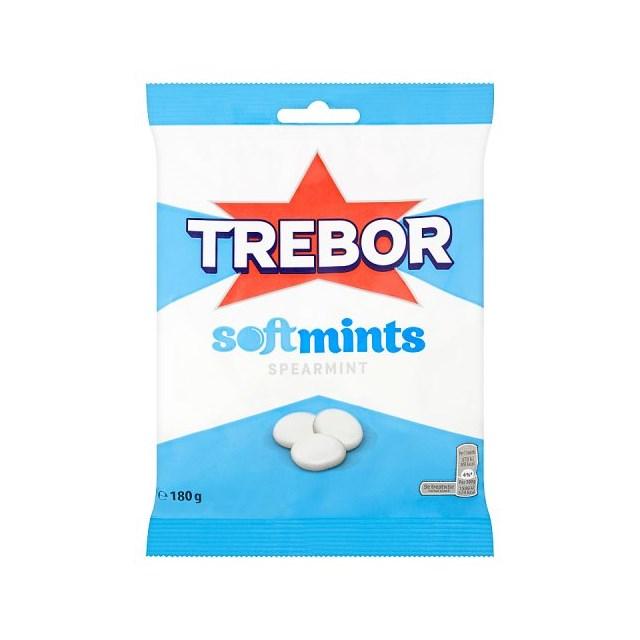 TREBOR SOFTMINTS BAGS SPEARMINT