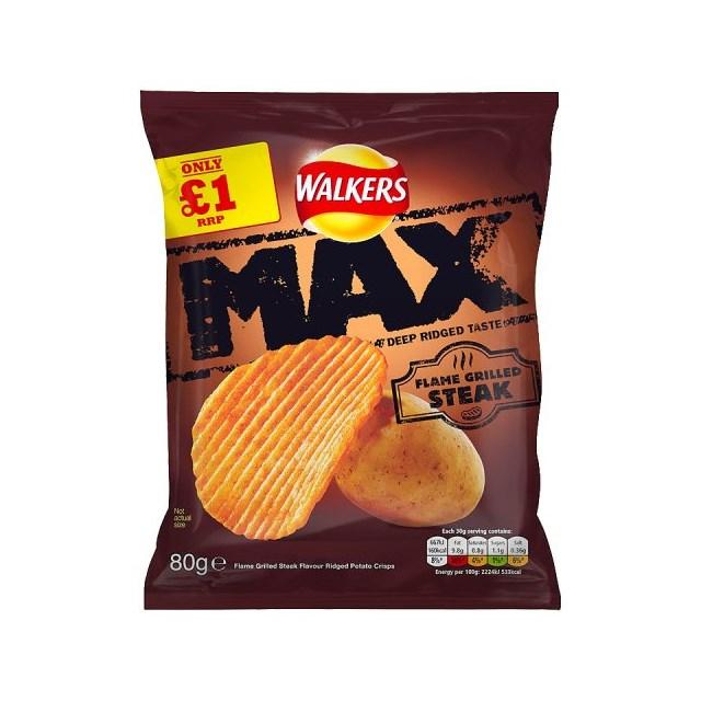 WALKERS £1 MAX FLAME GRILLED STEAK