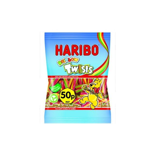 HARIBO 50P RAINBOW TWISTS