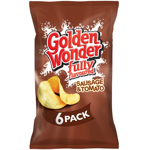 GOLDEN WONDER MULTIPACK SAUSGE & TOMATO (16 x 6 Pack)
