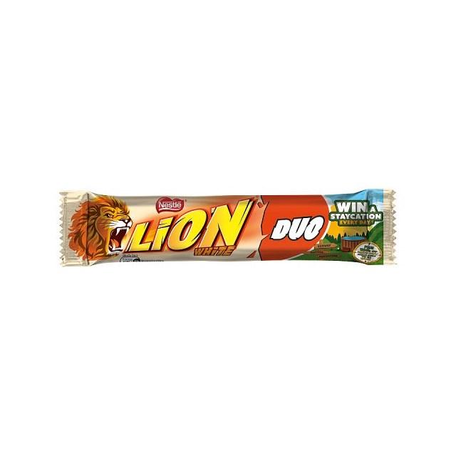 LION WHITE CHOCOLATE DUO 60g (28 PACK)