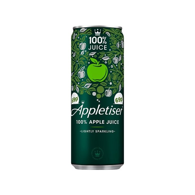 APPLETISER CANS 250ml 69p (24 PACK)