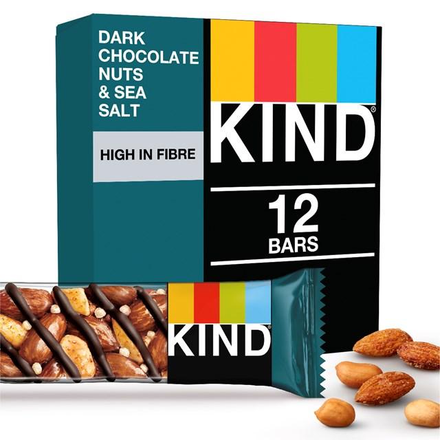 KIND DARK CHOCOLATE NUTS & SEA SALT 40g (12 PACK) 3 MAY DATED