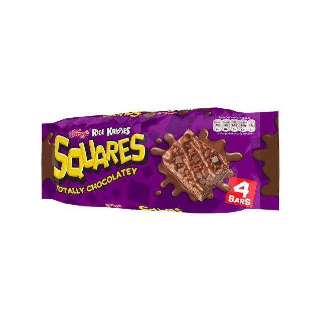 RICE KRISPIE SQUARES CHOCOLATEY 4 PACK
