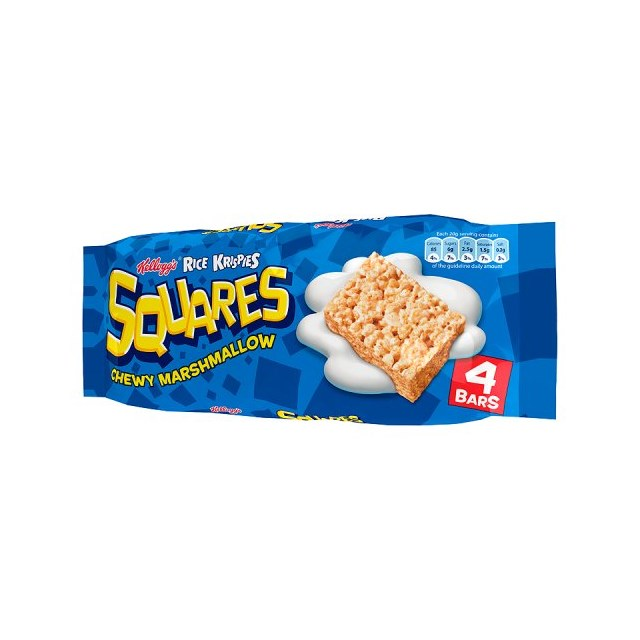 RICE KRISPIE SQUARES MALLOW 4 PACK