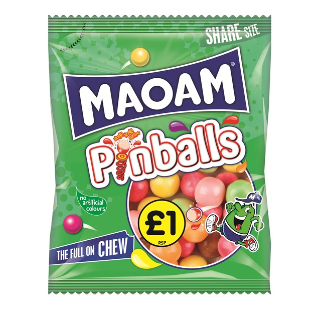 HARIBO £1 MAOAM PINBALLS 140g (12 PACK)