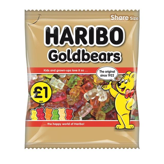 HARIBO £1 GOLD BEARS 160g (12 PACK)
