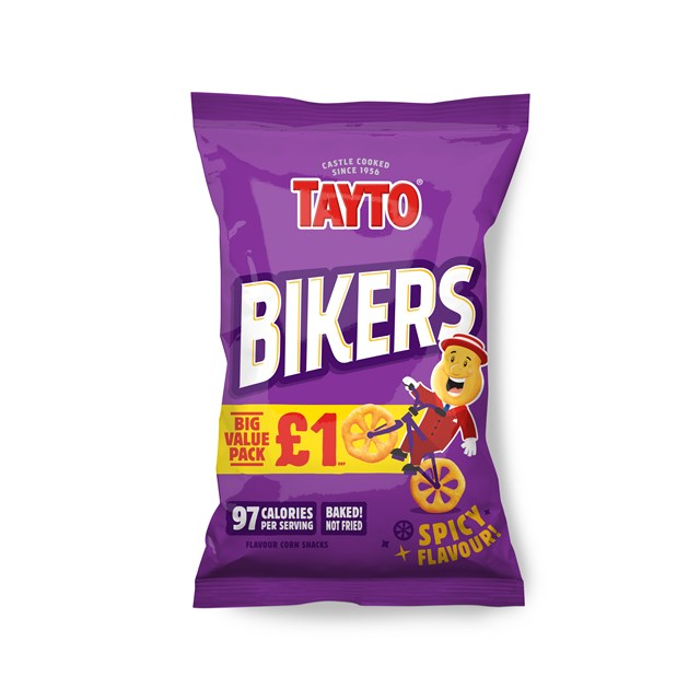 TAYTO £1 SPICY BIKERS 60g (16 PACKS)