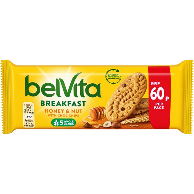 BELVITA 60P HONEY & NUTS 20 PACKS